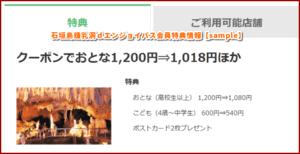 石垣島鍾乳洞dエンジョイパス会員特典情報【sample】