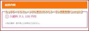 カップヌードルミュージアム横浜JAFナビクーポン掲載情報【sample】